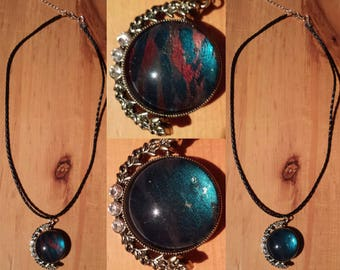 Double dark necklace