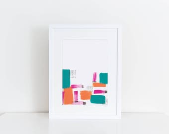 Abstract Art Print -Rushed