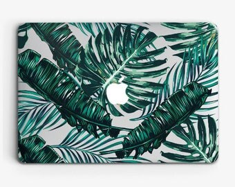 Tropical Banana Leaves Case Macbook Air 11 Case Macbook Air 13 Hard Case Macbook Pro 13 Case Macbook Floral Case Pro Retina 15 Case ACM_24
