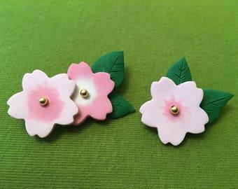 Mom brooch gift, Sakura brooch, sakura pin, flower pin, flower brooch, japanese flower, japanese pin