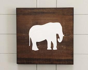 Elephant Wall Decor - Elephant Wood Decor - Elephant Nursery - Safari Nursery Decor - Jungle Nursery Decor - Elephant Children's Room Decor