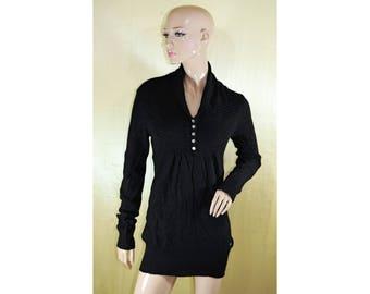 Vintage women top blouse pearl buttons
