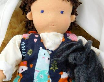 "FREE SHIPPING!!! Waldorf, Steiner Baby boy doll, 13,5"", 34cm, hand made"