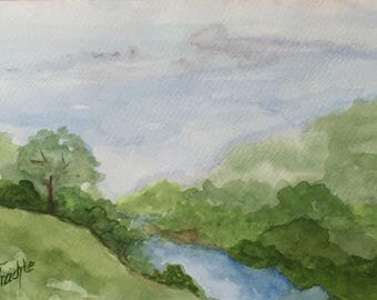 Small landscape in watercolor