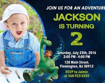 The Good Dinosaur Invitation Birthday Party