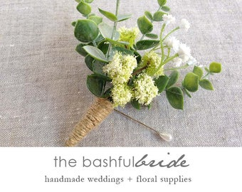 Greenery wedding, greenery boutonniere, eucalyptus boutonniere, wedding boutonniere, mens wedding boutonnieres, rustic boutonniere