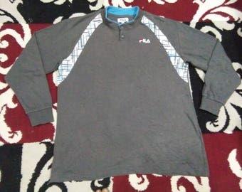 vintage FILA T SHIRT long sleeve size L
