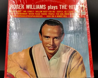 JAZZ VINYL RECORD: Roger Williams Plays The Hits - Vinyl Record - Jazz On Vinyl - Rare Vinyl - Great Gift!