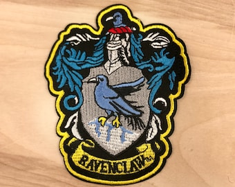 RAVENCLAW PATCH: Harry Potter Embroidered Iron On Patch - Hogwarts Magic School High Quality Snake Logo Gift