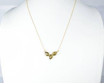 smokey necklace ,layered necklace,gemstone  necklace , pendant necklace, gemstone jewelry ,Smokey jewelry , drop necklace,tear drop necklace