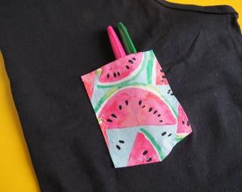 Black Watermelon Pocket Tank