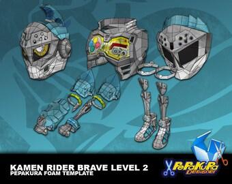 Kamen Rider Brave Level 2 Pepakura Foam Template