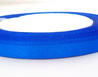 1 meter blue satin ribbon