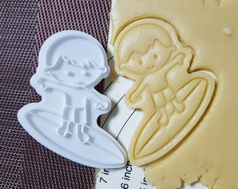 Surfer Boy Cookie Cutter and Stamp