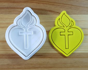 Cross Heart Cookie Cutter and Stamp