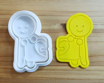 Where is my love (Man) Cookie Cutter and Stamp