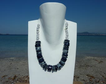 Collection COLLIOURE adjustable necklace  with silver clasp