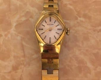 Vintage Ladies Bulova Gold Tone Watch
