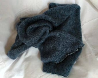 Mohair and silk scarf with swarovski crystal ab 4 mm