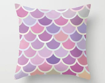 pastel purple mermaid tail pillow mermaid throw pillow purple decorative pillow purple bedroom