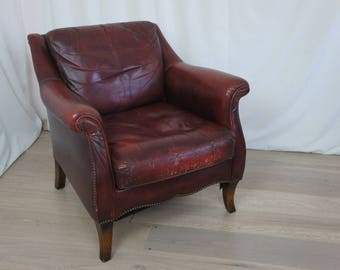 1970's Leather Club Chair