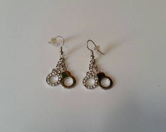 Silver Handcuff Earrings