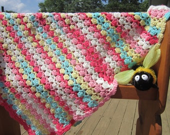 Beautifully Soft Crocheted Baby Blanket