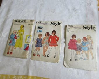 Vintage Sewing Bundle Childs sizes 5 and 6