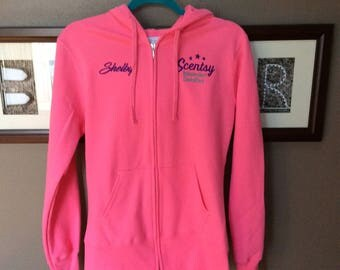Authorized Scentsy Vendor Scentsy Embroidered Hoodie Hooded Sweatshirt Jacket Consultant Gear Promotional Jacket - 5 Colors to Chose from