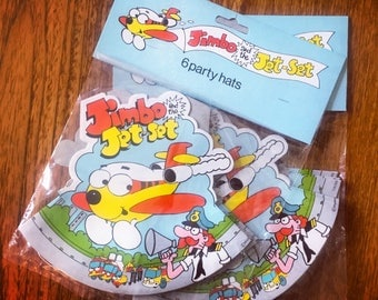 Vintage 1990s Jimbo and the Jetset Party Hats - 2 x Packs of 6