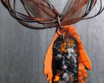 """Ethnic necklace, Collier mid-long, Boho necklace, """"Brasilia"""", handmade"""