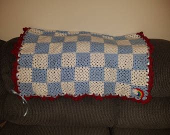Dorothy/Wizard of Oz inspired baby blanket