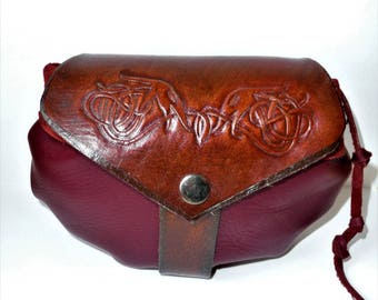 Bag belt /Escarcelle medieval / Celtic leather