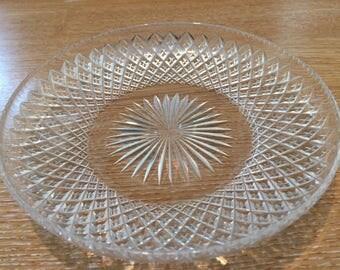 5 Edwardian Antique cut glass dishes
