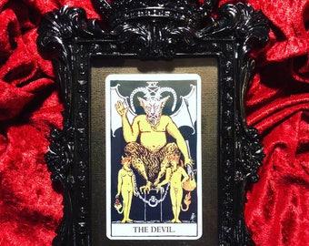 Framed Devil Tarot Card
