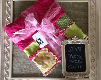 Handmade Crib Size Rag Quilt
