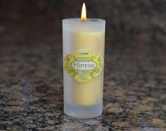 Cocktail Lounge Mimosa Scent Candle - Large Shot Glass - 6oz.