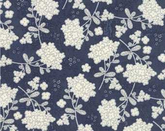 Garden Project Blueberry - Novelty Vintage Floral by Tim and Beck/ Moda Fabrics - Sold by the Yard