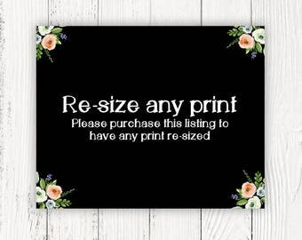 Re-size Any Print