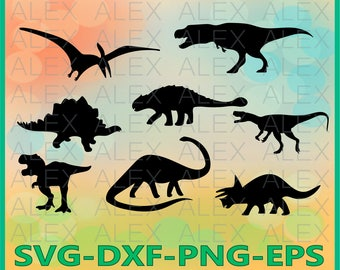 70% OFF, Dinosaurs SVG, Dinosaur Silhouette png, eps, svg, dxf, Dinosaur Clipart, Animals Silhouettes, Silhouette Files, Cut Png File