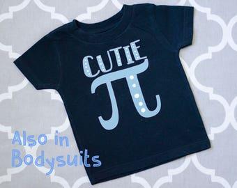 Cutie Pi Shirt, Math Humor Baby Tshirt or Bodysuit, Math baby gift, Nerdy Baby Gift, Geeky Baby Gift, Math Baby Shirt, Funny Baby Shirt