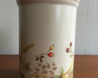 Vintage Marks and Spencer Harvest pattern Utensil Jar 1980's
