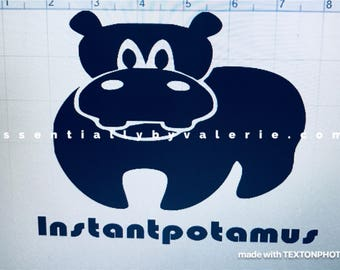 Instant pot decal/instantpotamus