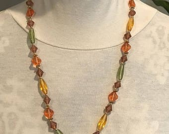 1960's Multi colored beaded Necklace