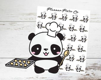 Panda Planner Stickers // Cook // Bake // Foodie