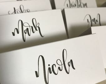 Calligraphy wedding place cards // name cards