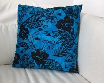Black &  Blue - Throw Pillow