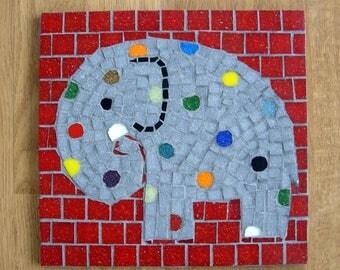 Mosaic elephant coaster