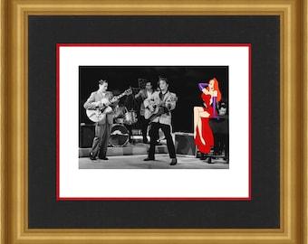 "Elvis Presley & Jessica Rabbit ""Love Me Tender"" POP Art  - Artist PUNK Limited Edition of ONLY 5  on Paper"
