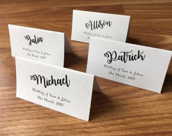 10 X Personalised Place Cards